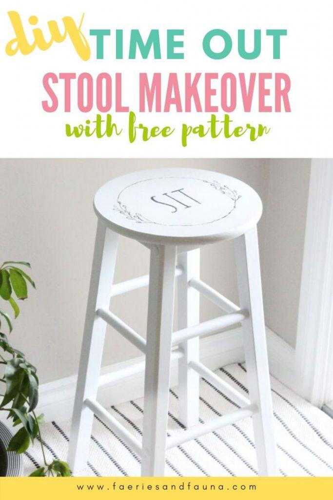 Turn a cheap stool into a pretty farmhouse stool.