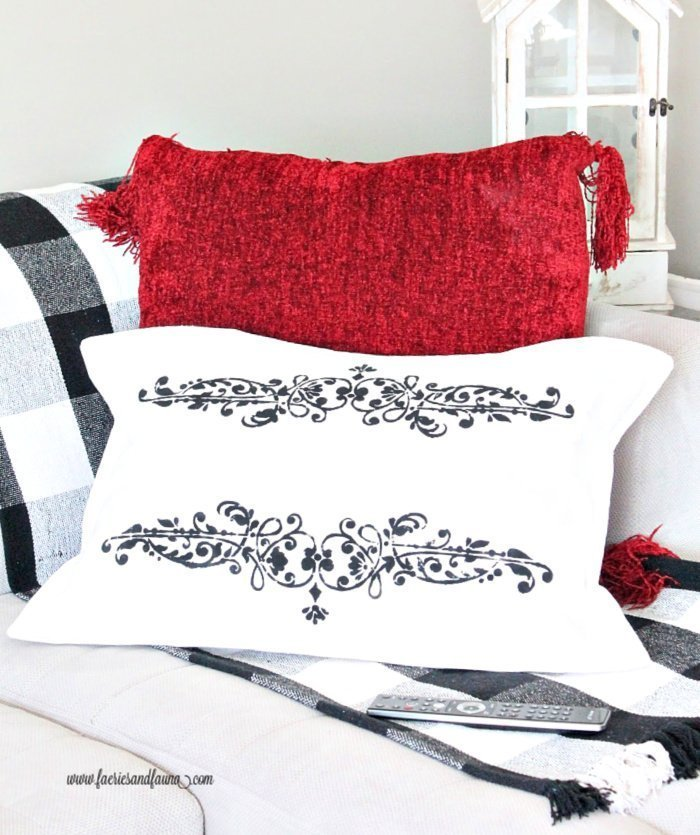 French Seam DIY Dropcloth pillow case cover