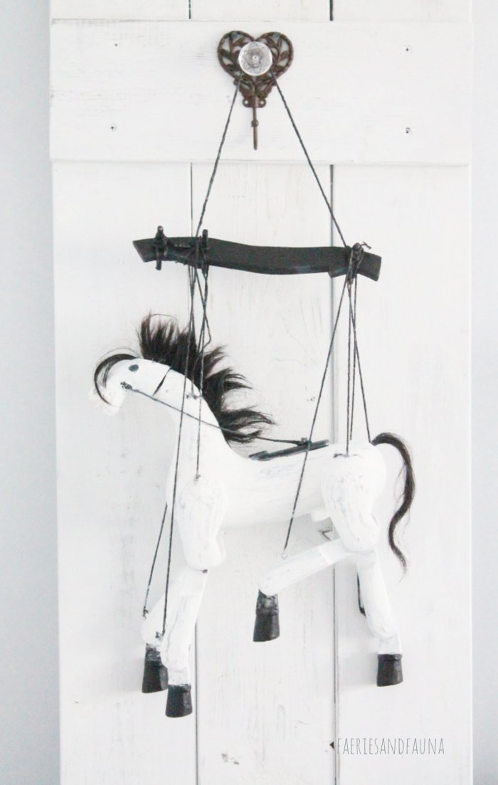 Antique horse puppet