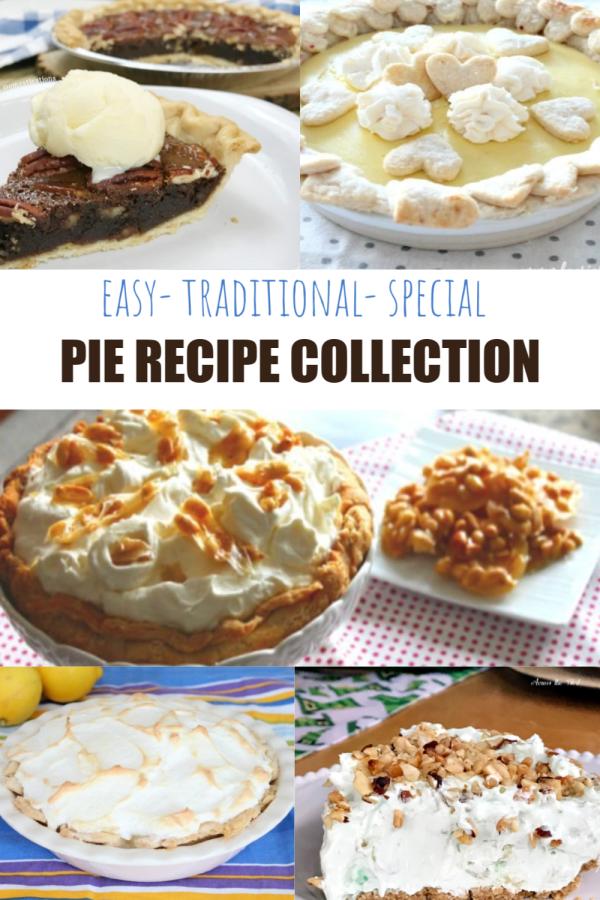 Pie recipes, easy, traditional fancy, unique pie recipe collection