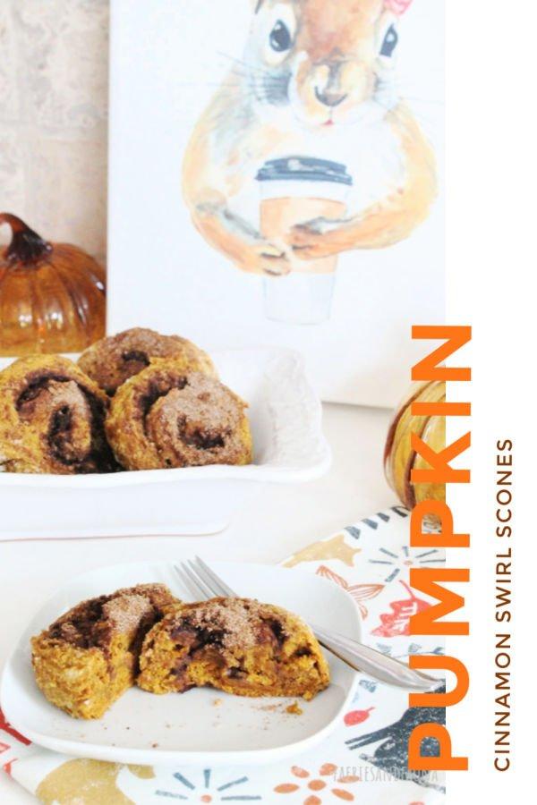 From scratch pumpkin scone recipe with cinnamon swirl center