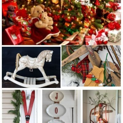 Garage Sale for Vintage Toys to use for Christmas Decorating