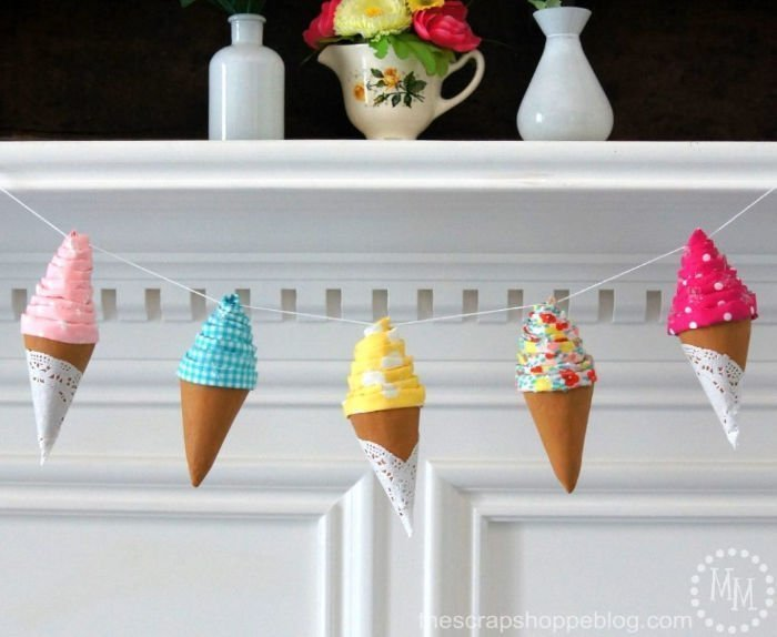 Ice cream banner idea, for summer parties