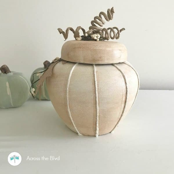 A thrift store upcycle pumpkin repurpose