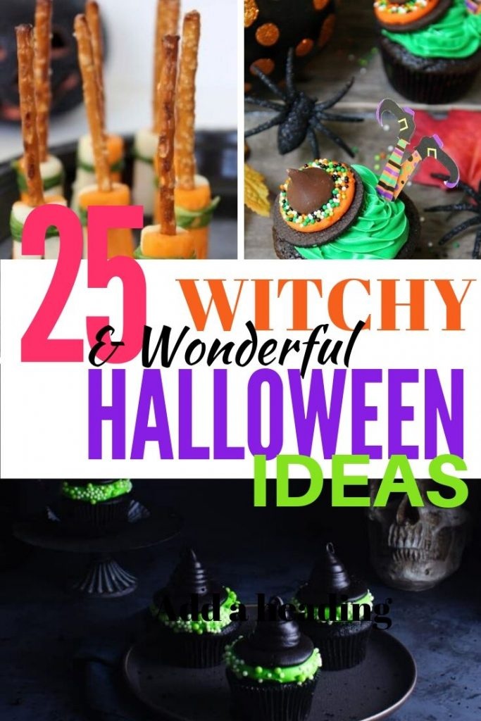 A collection of cool and creative Halloween crafts, halloween recipes and Halloween decor about witches.