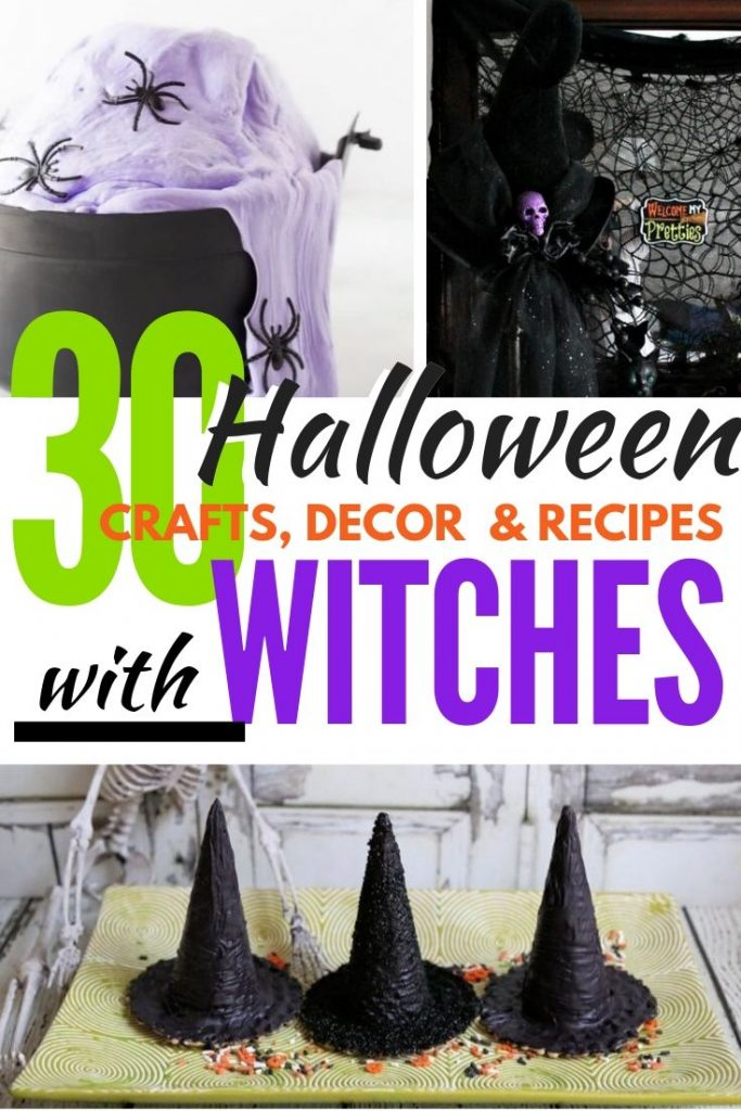 Cackling good witch fun for Halloween. My favorite Witch themed Halloween recipes, crafts and decorations.