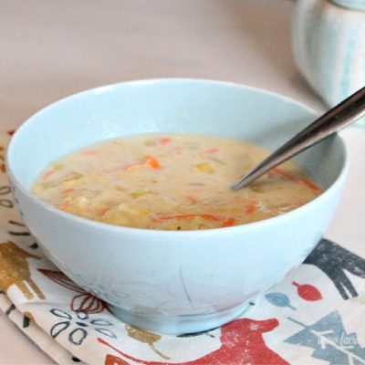 Easy Slow Cooker Chicken Noodle Chowder Soup