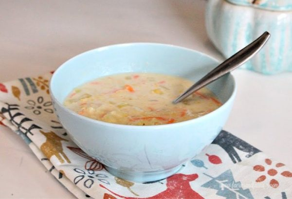 Easy chicken noodle and creamy corn soup recipe.