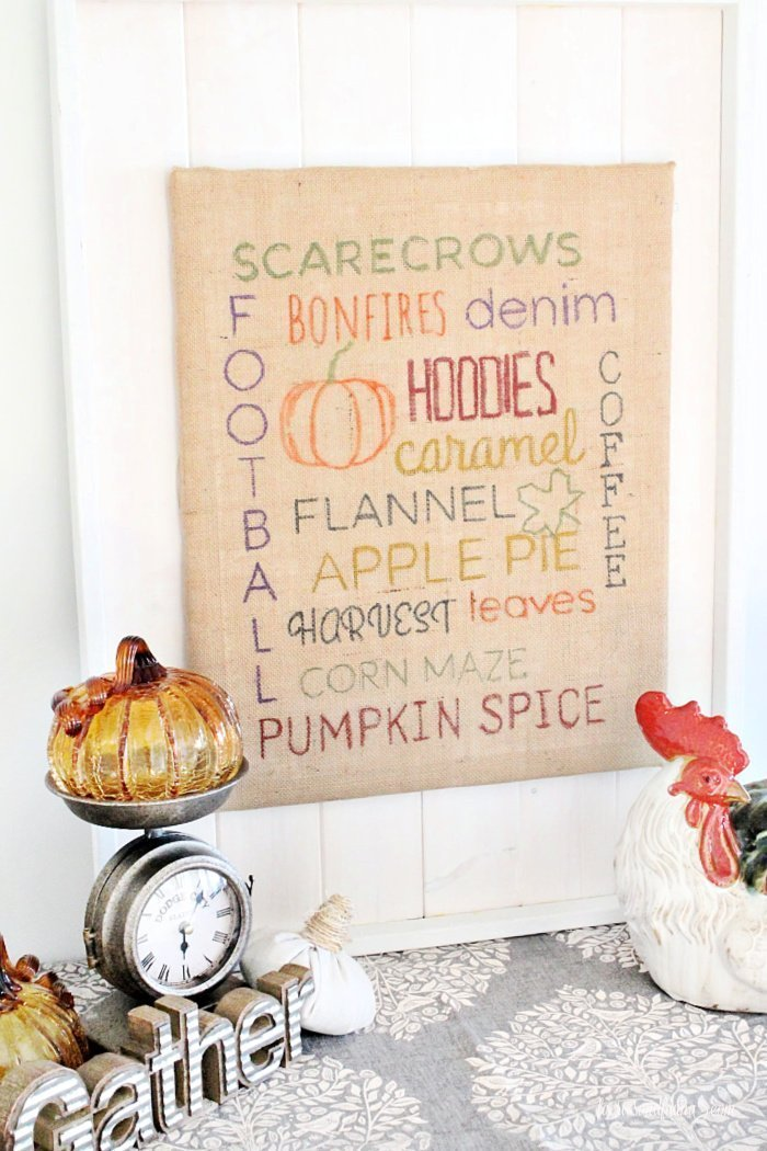 A easy to make lettered sign , with a rustic and farmhouse feel for Fall