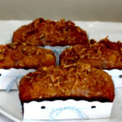 Banana Bread Recipe with Coconut and Lime Glaze