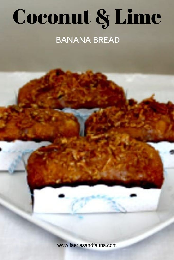 Banana Bread Recipe with crunchy Lime and Coconut topping
