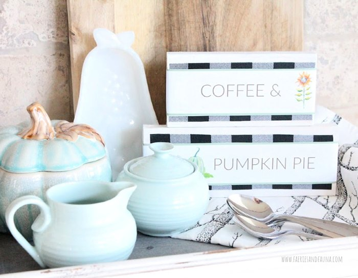 How to make wood block signs for both Fall and Halloween.