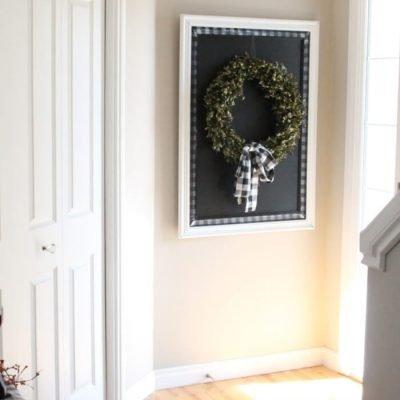 Buffalo Check Chalkboard Picture Frame DIY