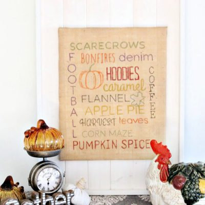 Easy Fall Craft  for Children or Adults  – A DIY Sign for Fall