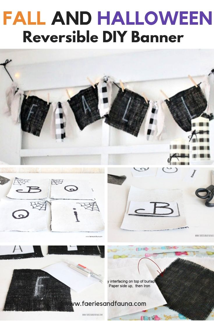 Black and White Fall Banner craft