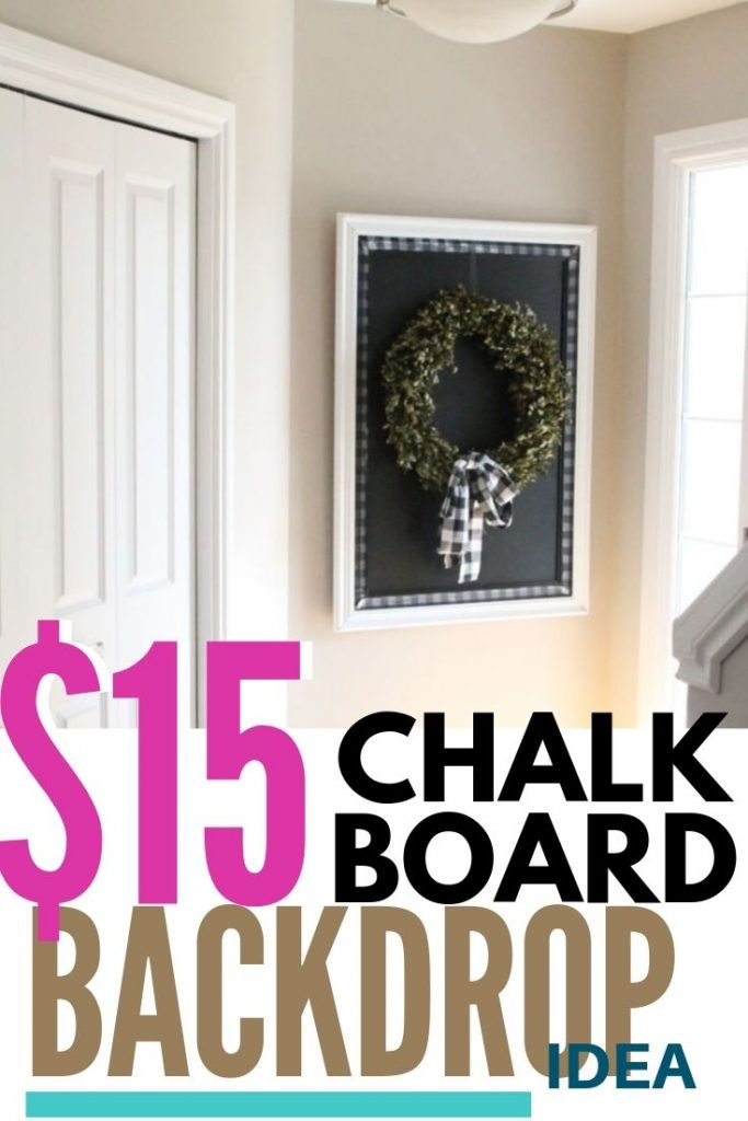 A large DIY chalkboard for cheap.