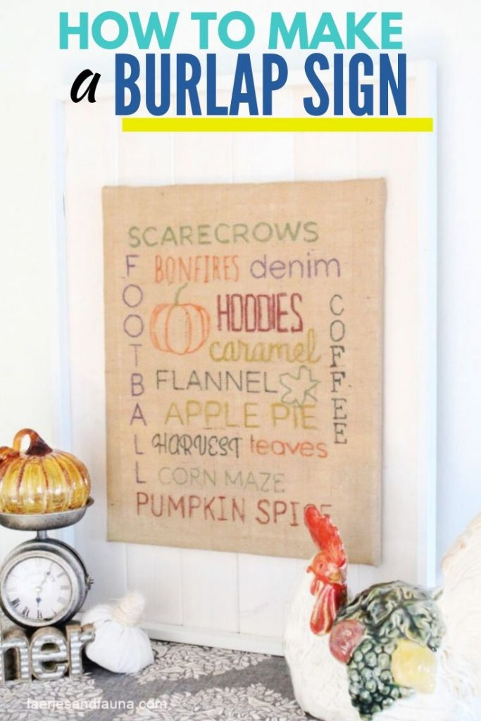 A lettered sign for Fall with all the favorite Fall activities.