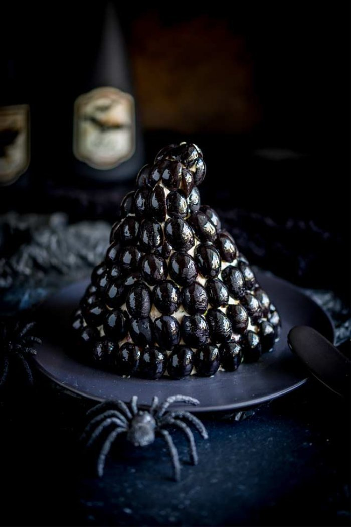 Halloween witch themed appetizer.