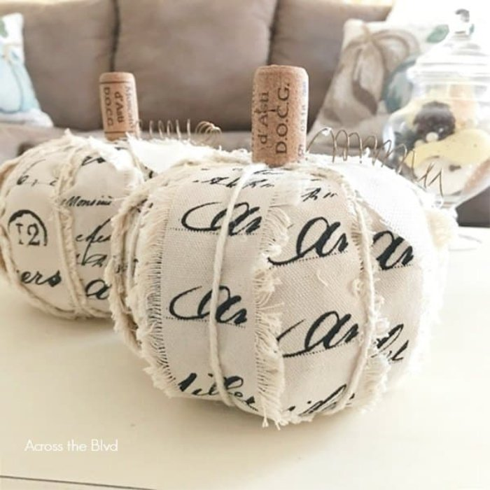 Dollarstore pumpkins in neutral colours