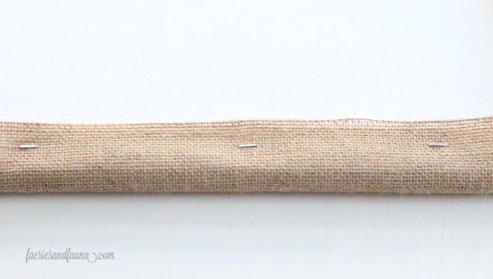 Stapling burlap to a dollar store canvas
