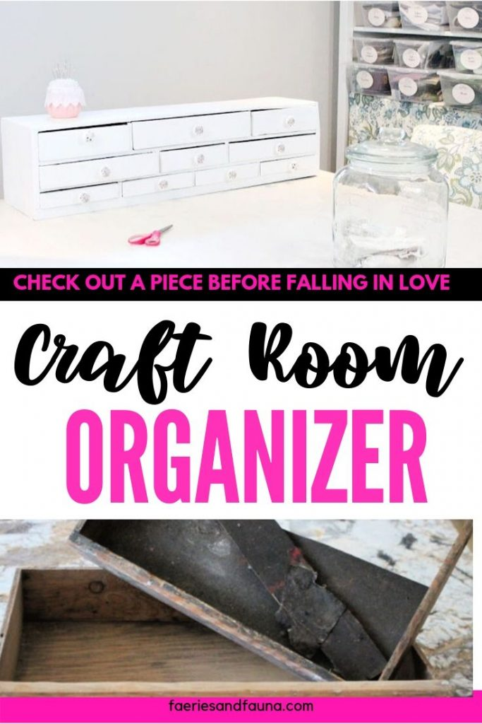 A toolbox becomes a craft room organizer