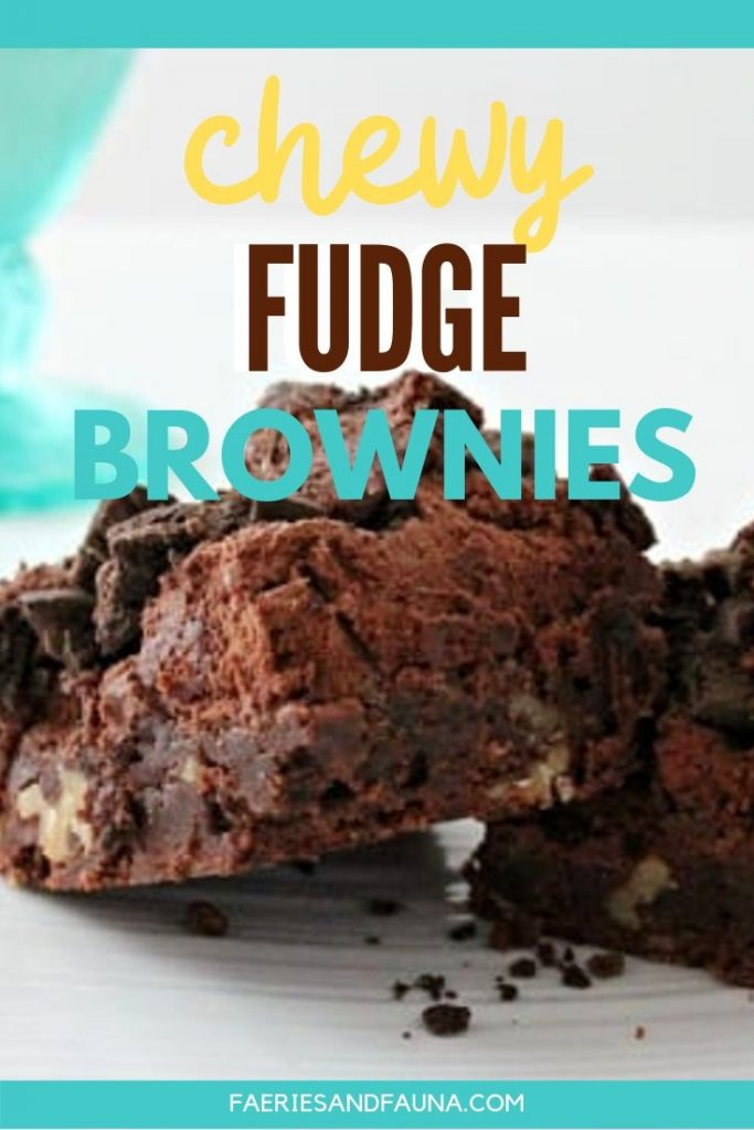 Homemade chewy and fudgy brownie recipe.