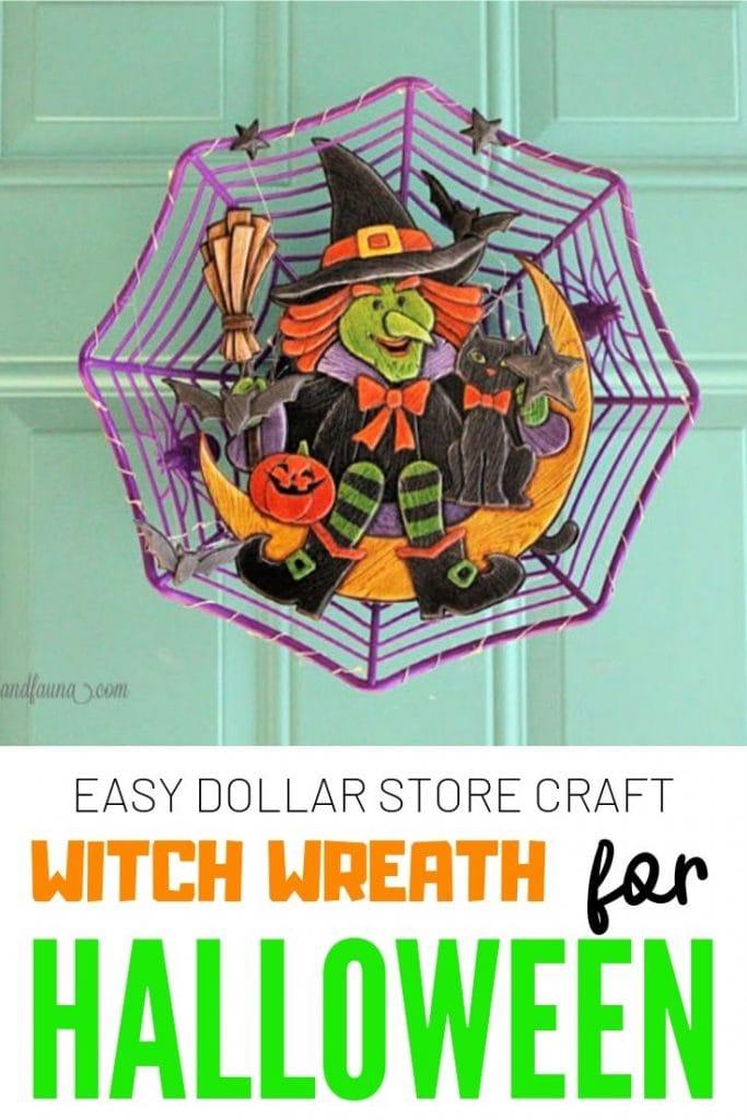 Diy Halloween Wreath An Easy Dollar Store Craft