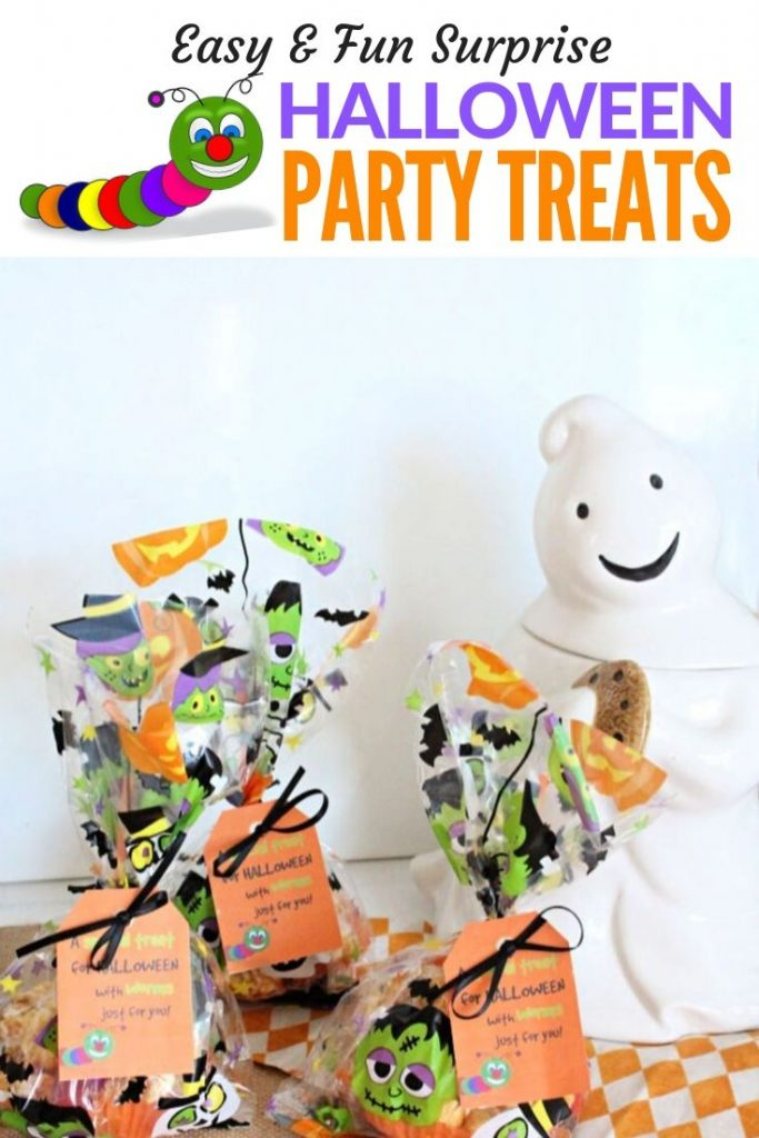 Fun and cute Halloween treat, homemade popcorn balls recipe for kids with gummy worms