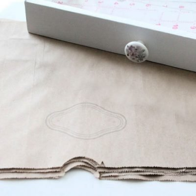 DIY Farmhouse Drawer Liners for Cheap