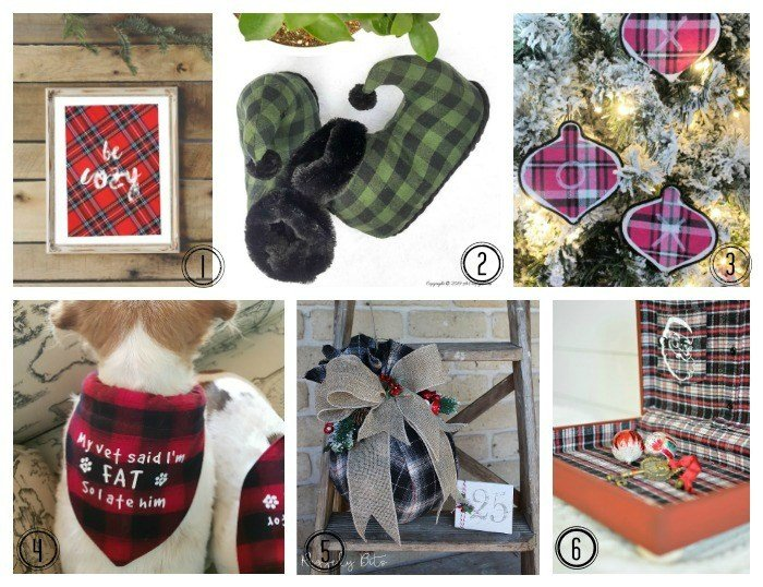 A collection of Christmas Craft using Flannel