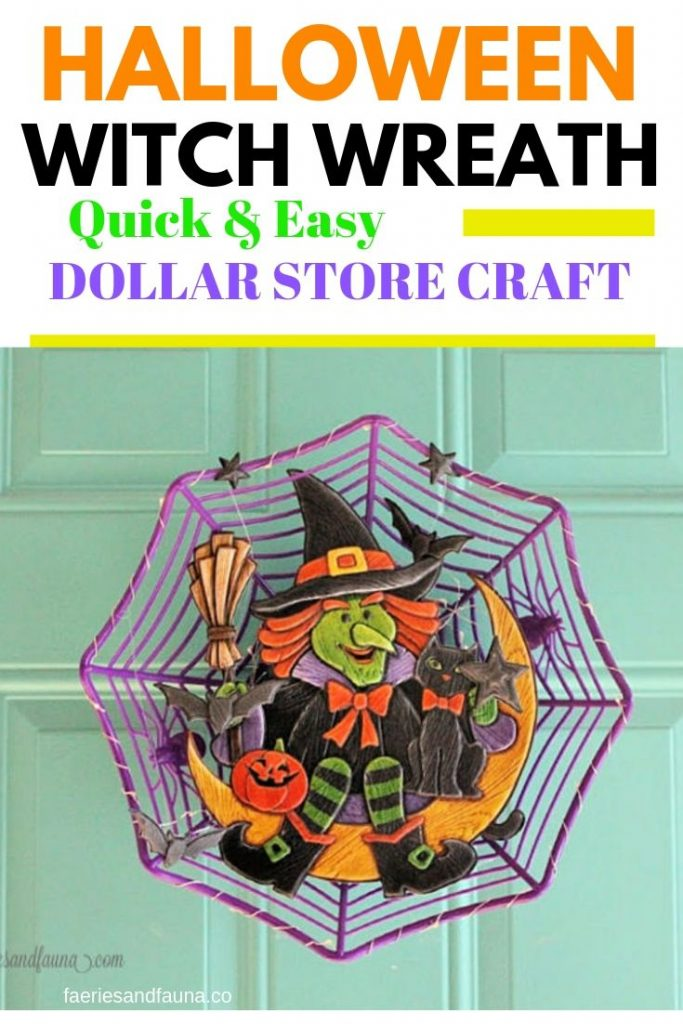 A quick and easy DIY Halloween wreath idea for the front door.