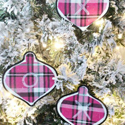 Flannel DIY Christmas Ornaments