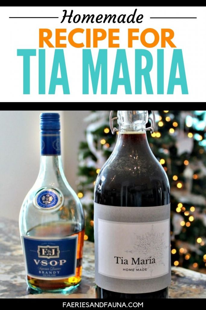 Easy to make Tia Maria Recipe in a bottle with a free printable label