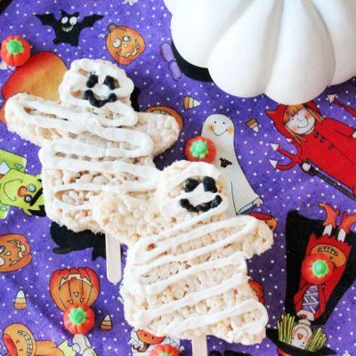 Ghost Mummy Halloween Treats for Kids