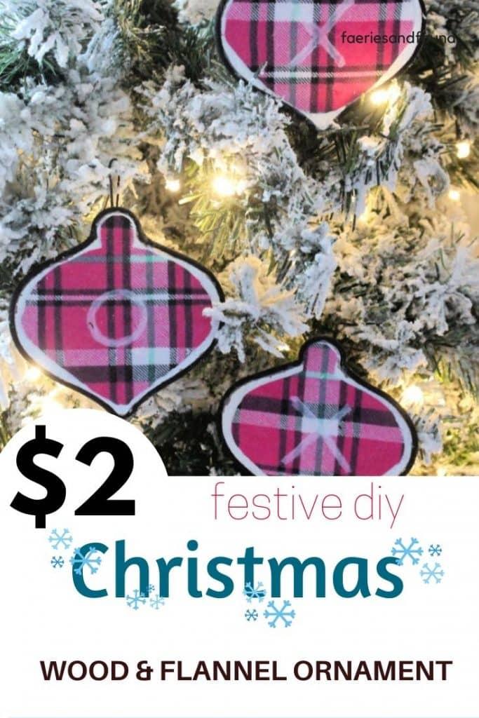 DIY Christmas Ornament Craft idea for the holidays.