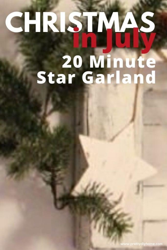 An easy to make DIY Christmas Garland white star garland.