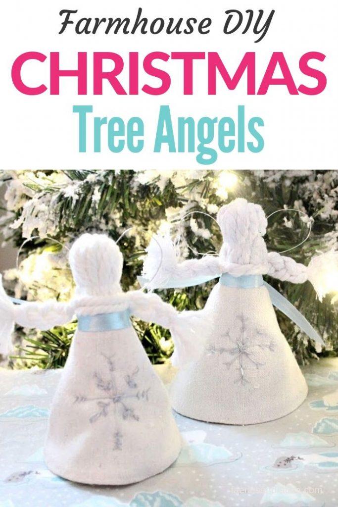 Handmade Christmas tree ornament angels