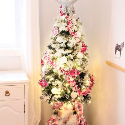 Perfectly Pink and Plaid Christmas Garland Craft