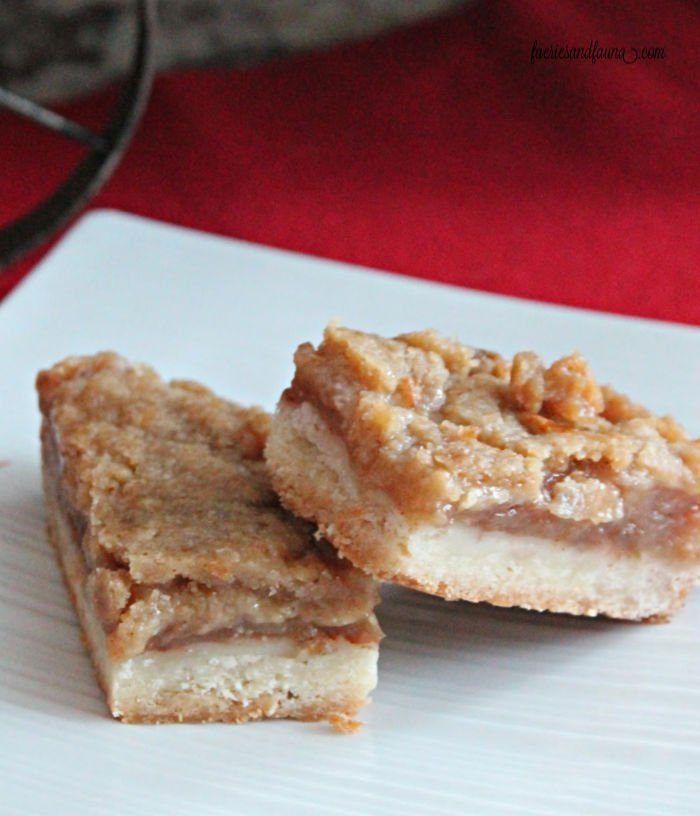 Apple squares with a crumb crust for Christmas