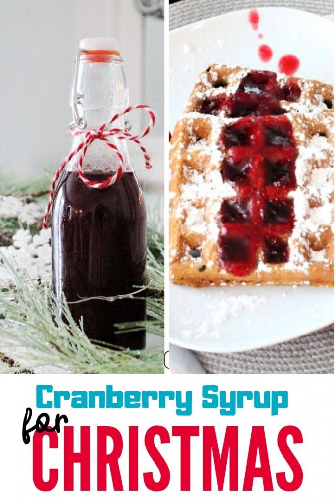 Recipe for Homemade Cranberry Syrup, takes a few minutes and is delicious with gingerbread waffles.