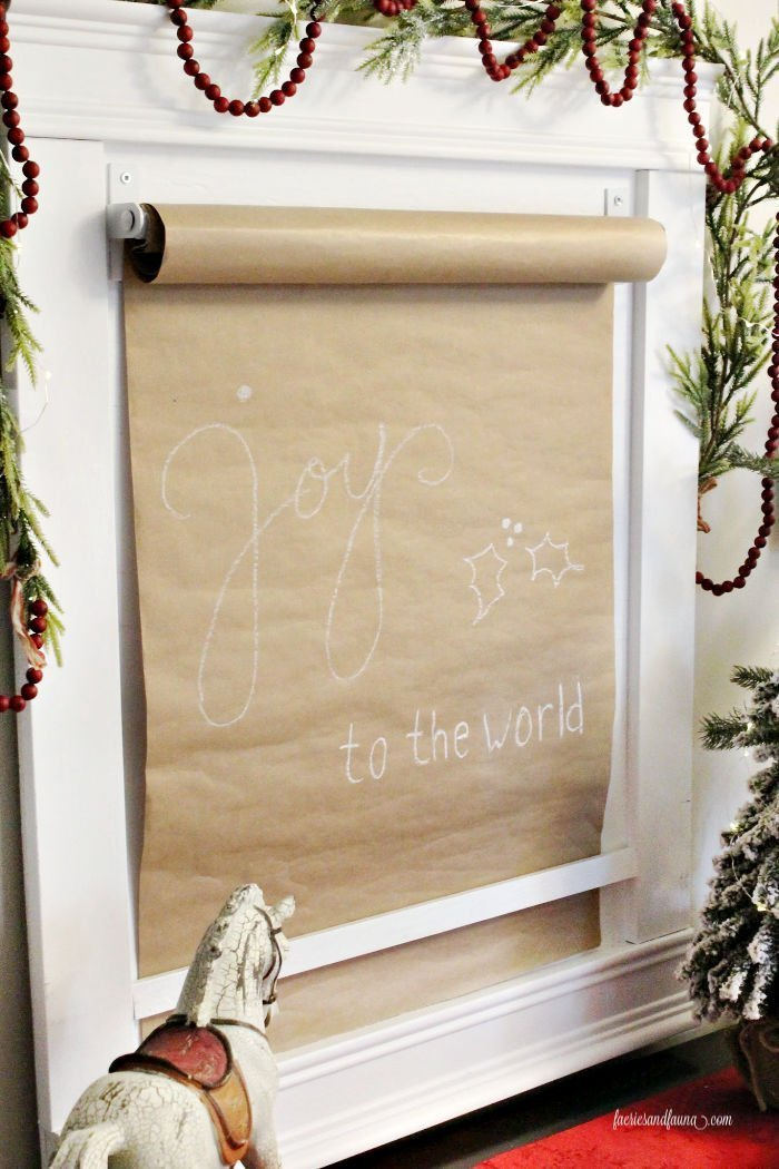 Handmade Wood Scroll art for Christmas and DIY Scroll Holder