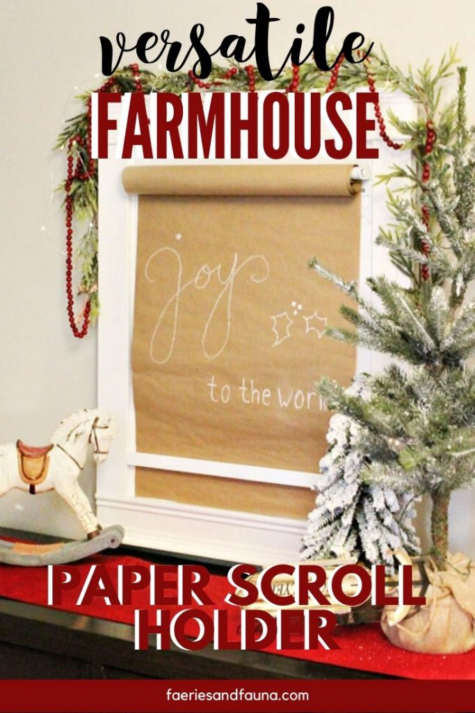 How to Make a Paper Scroll hanger with frame, and lettered art.