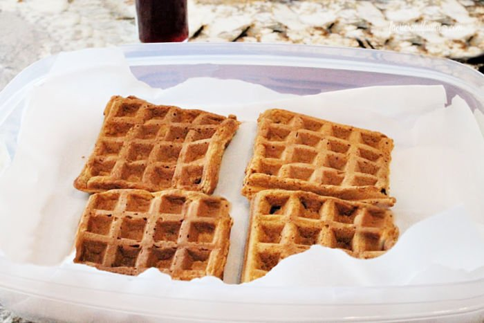 How to store make ahead gingerbread waffles