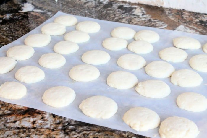 Homemade shortbread for Christmas cookies