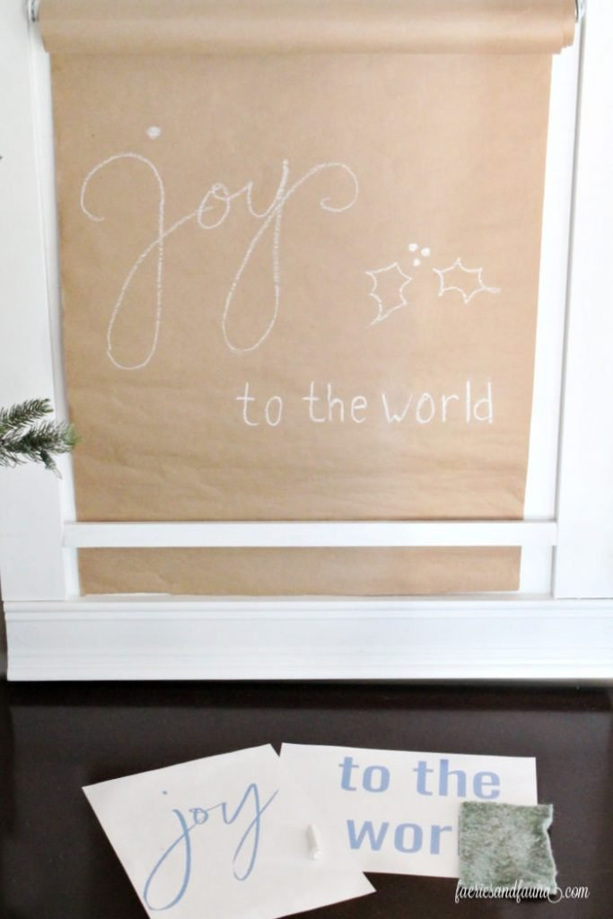 How to add Christmas lettering to a DIY Farmhouse Scroll Sign holder.