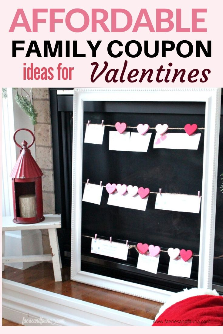 Free Valentine printable coupons on a Jute string frame for Valentines Day.
