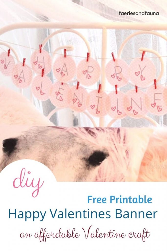 An easy Valentines craft made with a free printable.