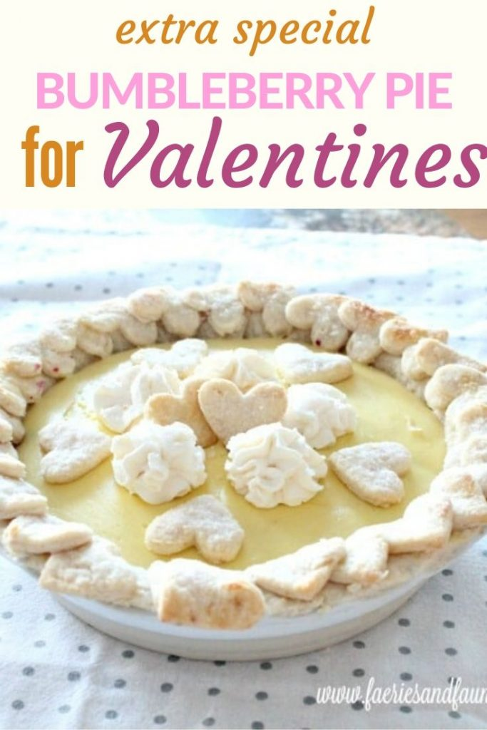 Bumbleberry and lemon custard pie, a Valentines recipe for him.