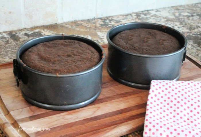 Chocolate cake recipe for making a Valentines dessert