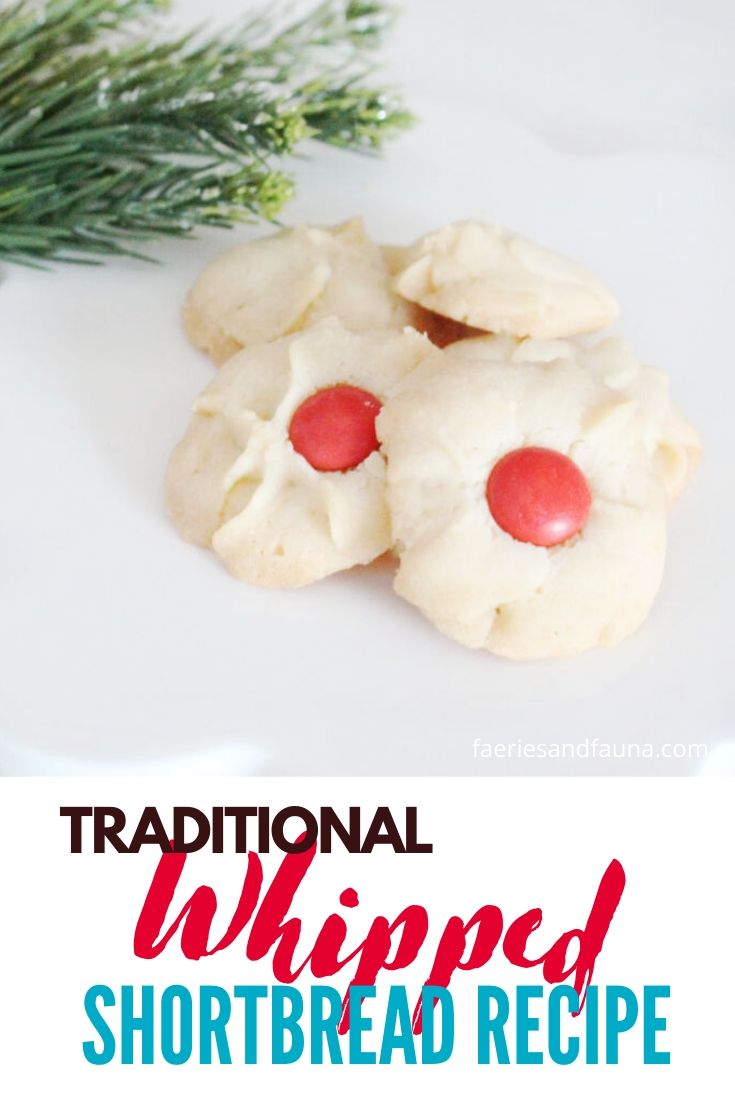 The best whipped shortbread recipe. Traditional easy Christmas cookie recipe.